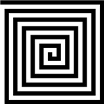 Squared Spiral Symbol