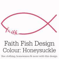 Honeysuckle Pink Faith Fish Design