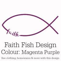 Magenta Purple Faith Fish Design