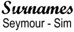 Vintage Surname - Seymour - Sim