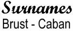Vintage Surname - Brust - Caban