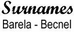 Vintage Surname - Barela - Becnel