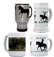 Mountain Horse Mugs, Steins and Travel Mugs