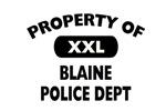 Property of Blaine Police Shop