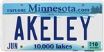 Akeley License Plate Shop