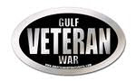 gulf war veteran oval sticker