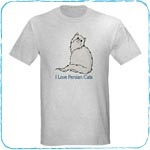 Happy White Persian T-Shirts and Gifts