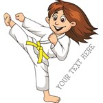 PERSONALIZED KARATE GIRL