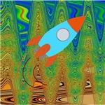Abstract Rocket Ship