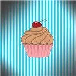 Pink Cupcake Teal