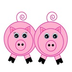 Pink Pig Couple