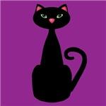 Black Cat Purple