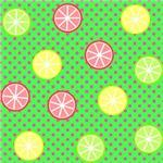 Citrus Pink Polka Dots