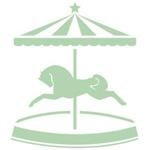 Green Carousel Pony
