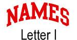 Names (red) Letter I