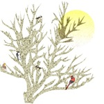 Winter Birds & Tree