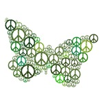 Green Peace Butterfly
