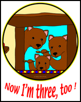 3 BEARS TEES FOR 3 YEAR OLDS