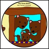 THE THREE BEARS ON KIDS T-SHIRTS
