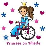 Princess on Wheels (Brown Hair)