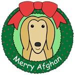 Afghan Hound Christmas Ornaments
