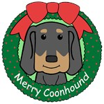 Black and Tan Coonhound Christmas Ornaments