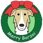 Borzoi Christmas Ornaments