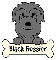Personalized Black Russian Terrier