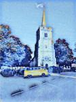 Little Yellow Bus Winter Blue
