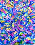 Abstract in Blue & Pink