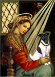 Madonna of the Chair<br> w/ Smooth Fox Terrier #1