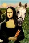 White Arabian Horse<br>and Mona Lisa