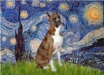 STARRY NIGHT<br>& Brindle Boxer (crp)