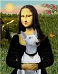 MONA LISA<br>& White Bull Terrier