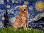 STARRY NIGHT<br>& Golden Retriever (red)