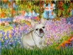 GARDEN AT GIVERNEY<br>& Fawn French Bulldog