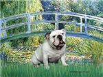 LILY POND BRIDGE<br>& White English Bulldog