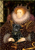 QUEEN ELIZABETH I<br>& Black Pug