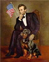 ABRAHAM LINCOLN<br>& Rottweiler