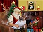 SANTA AT HOME<br>& Jack Russell Terrier pair