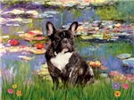 WATER LILIES<br>& French Bulldog (BW)