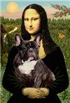 MONA LISA<br>& Brindle French Bulldog