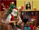 SANTA AT HOME<br>& Border Terrier