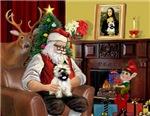 SANTA AT HOME<br>& Cairn Terrier