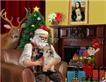 SANTA AT HOME<br>& 2 Cairn Terriers