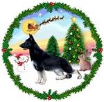 SANTA'S TAKE OFF #1 <br>& German Shepherd