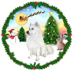 SANTA'S TAKE OFF #1<br>& American Eskimo