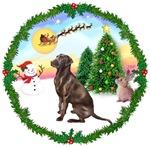 SANTA'S TAKE OFF #1<br>& Labrador Retriever