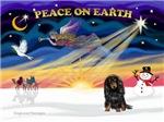 CHRISTMAS SUNRISE<br>& Dachshund (LH)