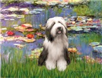 WATER LILIES<br>&Bearded Collie #1